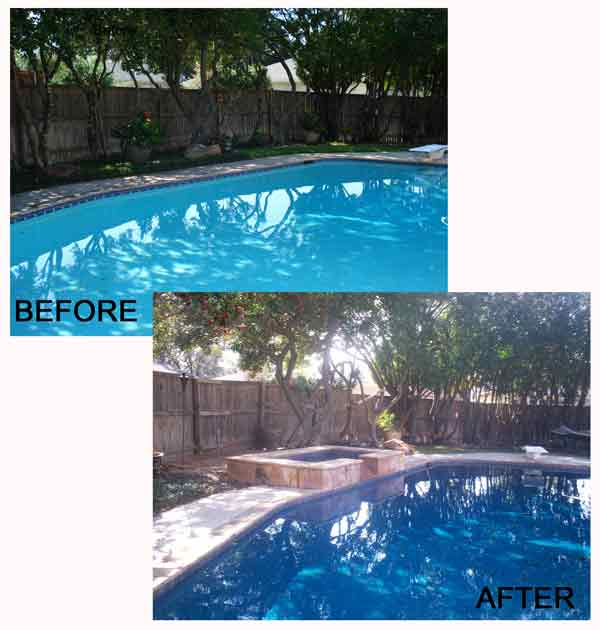 Glasser Custom Spa Before and After