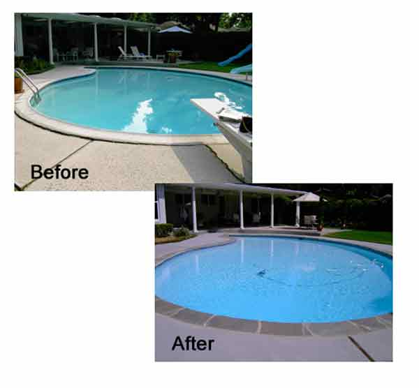 Honey Concrete Deck Before and After