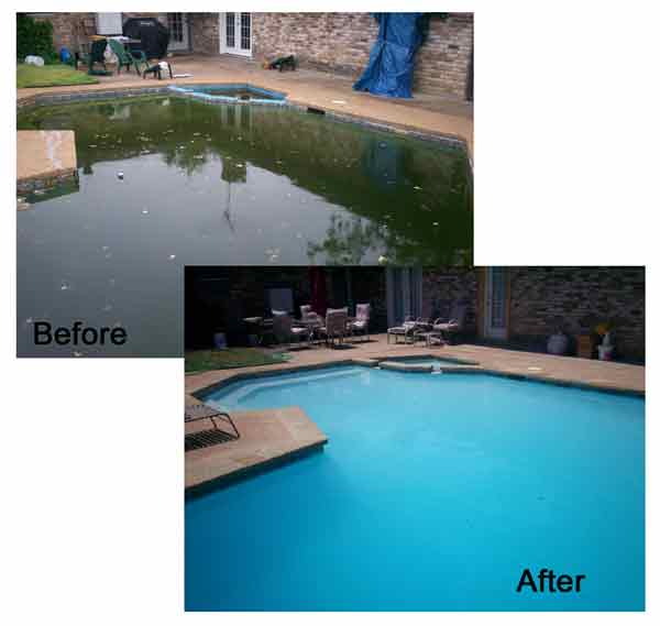 Jones Pool Before and After