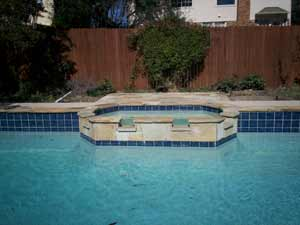 Pool w/ Custom Tile and Spa